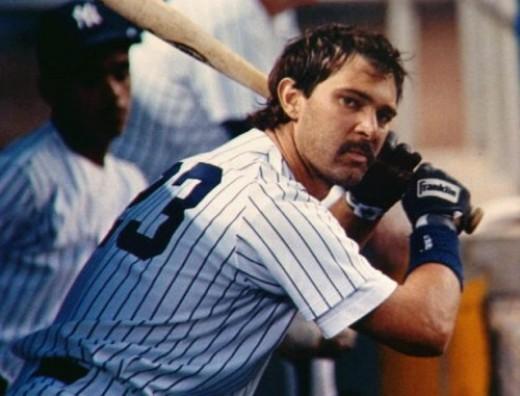 While not hitting baseballs, Don Mattingly was still thinking about hitting baseballs in the dugout.