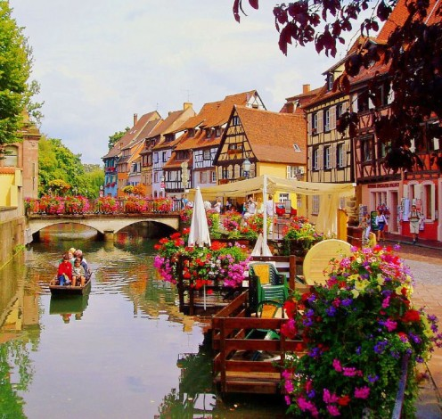 Founded in the 9th century, Colmar's landmarks reflect eight centuries of  Germanic and French influence in all its variety and vitality.
