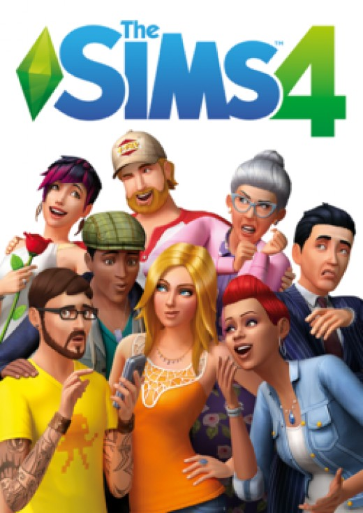 The boxart for The Sims 4. Notice the change in art style compared to The Sims 3.
