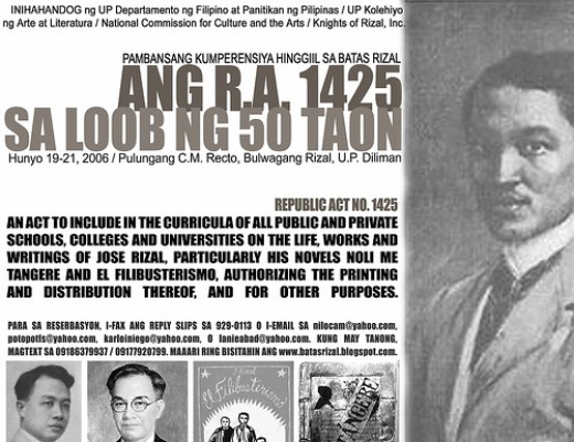 batas rizal 1425 In 1956, republic act 1425, otherwise known as the rizal law - pertinent provisions of batas pambansa bilang 232 or the education act of 1982 the life, works and writings of jose rizal, and all other laws.