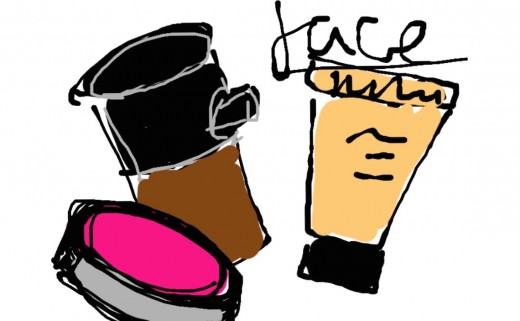 Illustration of makeup.
