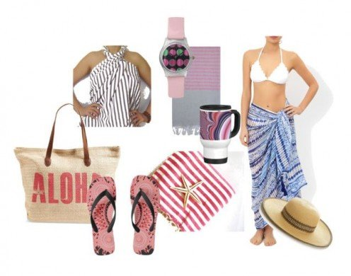 Casual Beach Wraps In striped fabric.