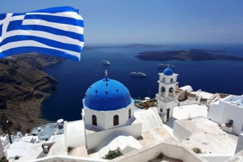 The surrounding sea and islets, hilly slopes, white-washed buildings, blue-dome churches, blue skies, white clouds, beautiful sunsets and a moonlit night filled with millions of bright stars all add to the panoramic backdrop of Santorini.