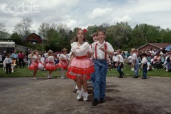 Young square dancers at the Ramp, Asheville, N.C.