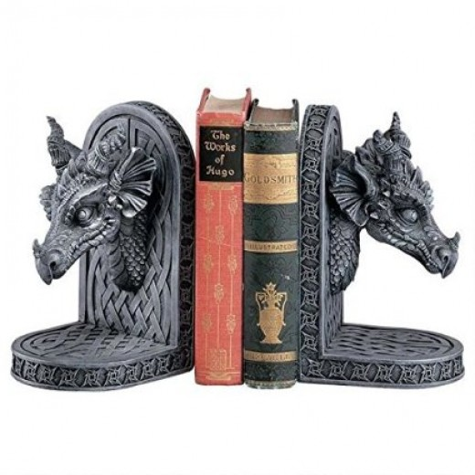 Dragon bookends from Amazon
