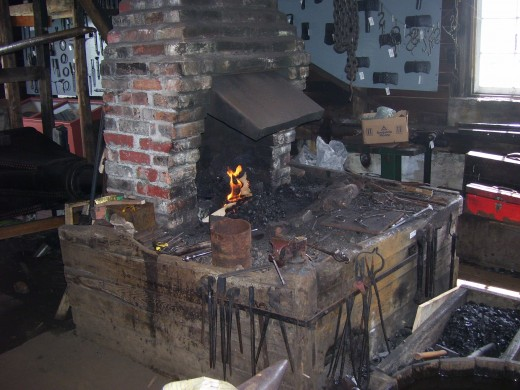 Inside the Green Family Forge.