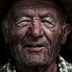 Farmer in from the fields.