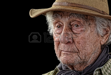 This rugged farmer's face is proof of how tough it was to be a farmer.