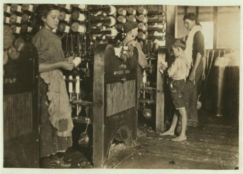 Children work  at Cherryville Mfg Co  textile mill Cherryville, N.C.