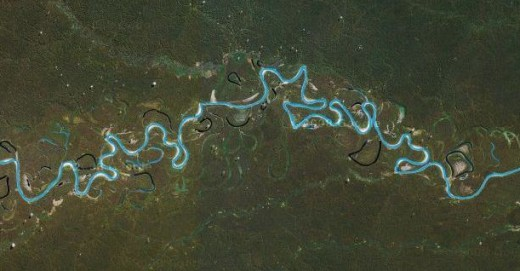 A meander from low orbit.