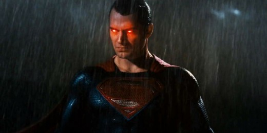 Superman with Angry Eyes