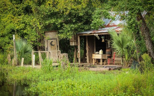 Old Cajun cabin on the bayou.