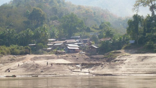 View from slow boat into Laos