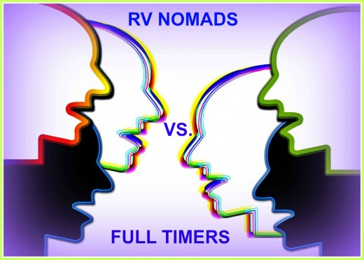 What are the differences between RV Nomads and Full Timers?