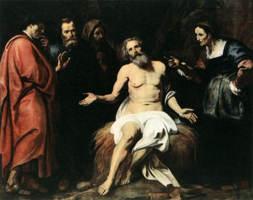 Job with his friends by Gerard Seghers