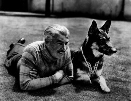 Lee Duncan and Rin Tin Tin.