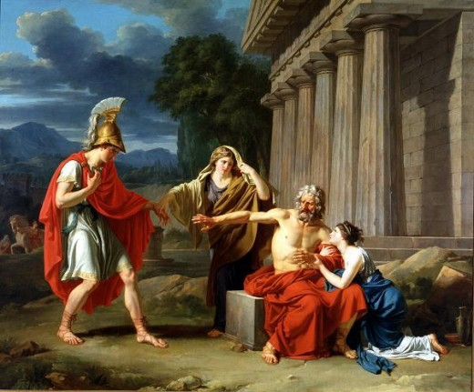 Oedipus at Colonus - Jean-Antoine-Théodore Giroust (1753–1817) - PD-art-100