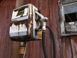 This rusty' diesel pump served a lot of people in its day.