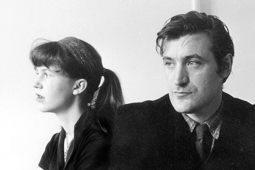 Plath with her husband the famous poet,Ted Hughes