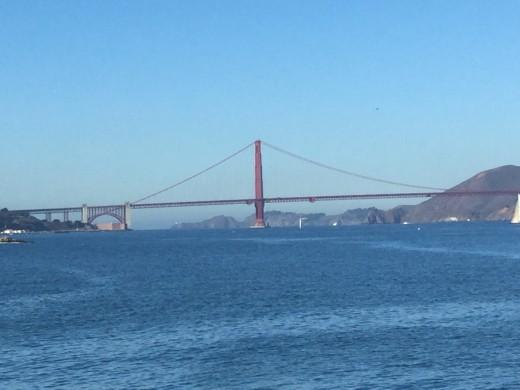 The Golden Gate Bridge, seen from Mason Centre For Arts & Culture