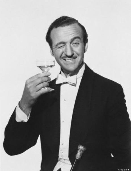 David Niven:  A working class man in origin who had manners and foppishness.