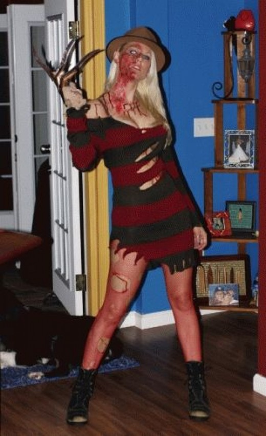 Girls just wanna have fun on Halloween and sometimes that means wearing a Freddy Krueger costume