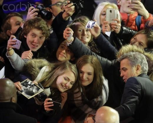 Selfies at Hail Caesar opening.