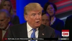 Trump plays fact-checker at GOP Town Hall