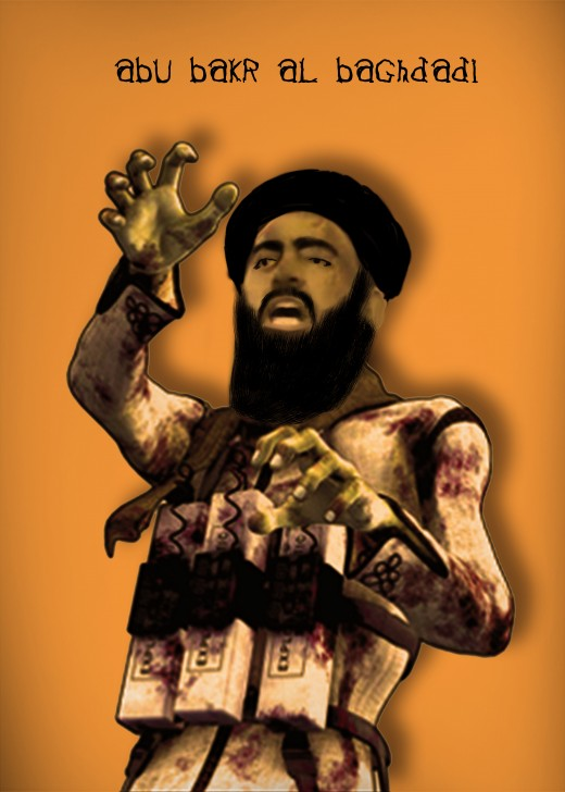 Al - Baghdadi leader of IS:  He must know his group is under severe pressure from all sides.