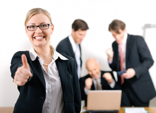 Successful Job Interview meeting