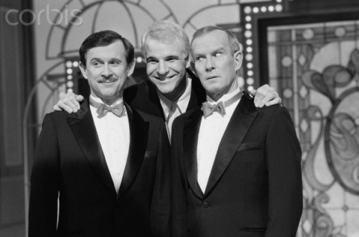 Steve Martin with  the Smothers Brothers  Jan 13, 1988.