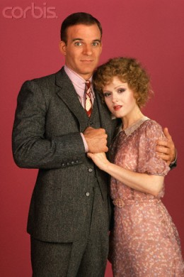"Steve with Bernedette Peters, stars of  ""The Jerk."""