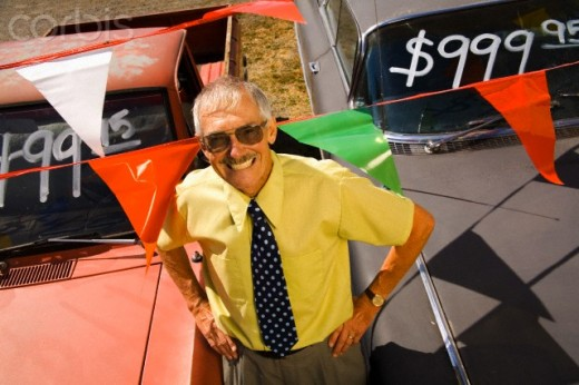 Make sure that the used car salesman's smile is not fake.
