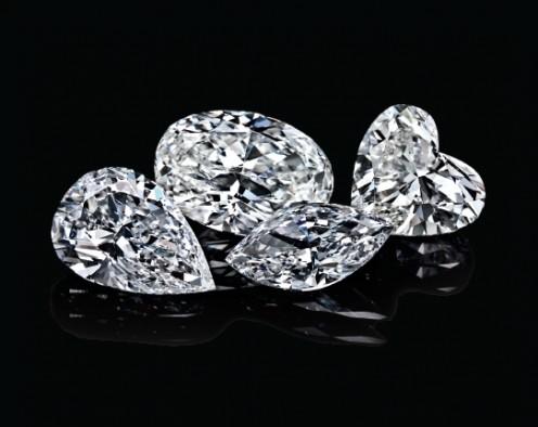 various shaped diamonds