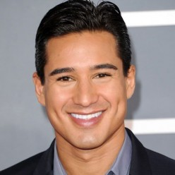 Celebrity, Mario Lopez, shows a whimsical, happy spirit by his eyebrows in this shot.