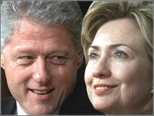 President Bill Clinton and First Lady Hillary Rodham Clinton -- Targeted by Republicans in the Whitewater and S&L scandals.