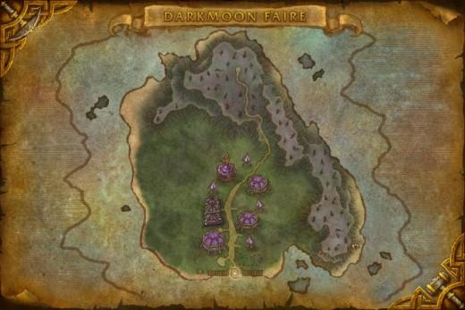 The map of Darkmoon Island.