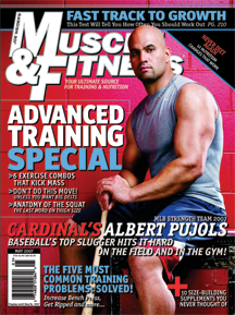 Albert Pujols on the cover of Muscle and Fitness.