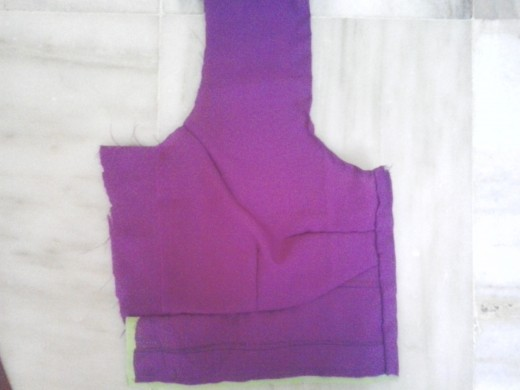 Here is one half of the front part of the blouse.