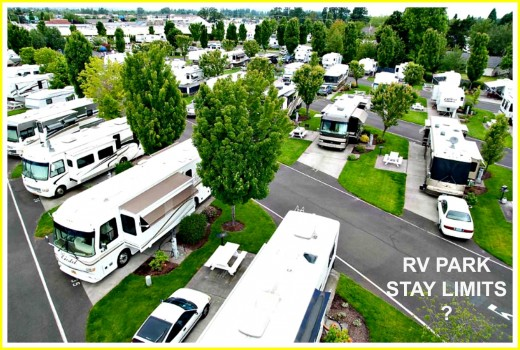 Not all RV Parks allow people to stay  for as long as they wish.