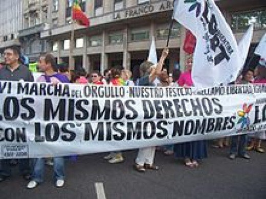 2007 Pride Parade in Buenos Aires organized by the Argentine Federation of LGBT
