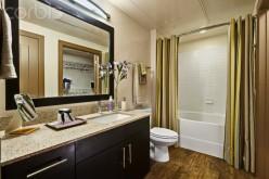 Designer bathroom.