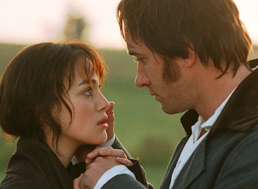 Mr. darcy and Elizabeth Bennet in Pride and Prejudice.