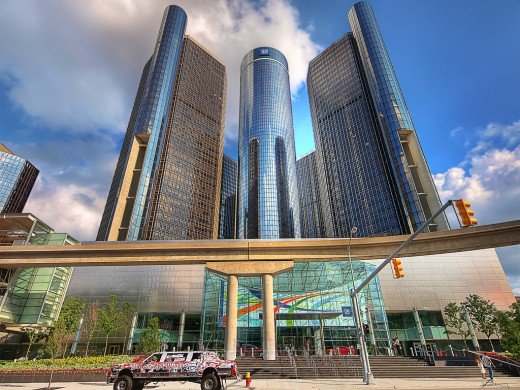 The Renaissance Center.