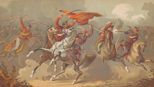 Late 19th century battle against Ottoman Turks.