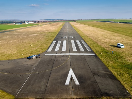 This is a runway - take note of the runway strip