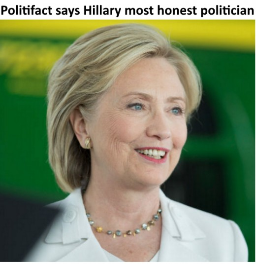 "The Pulitzer Prize-winning ""Politifact"" gave Clinton the best truth-telling record of any of the 2016 presidential candidates in either party."
