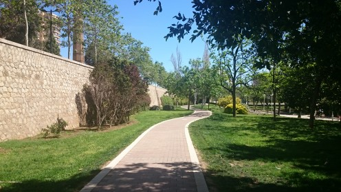 The old riverbed of the Turia turned into a beautiful park.