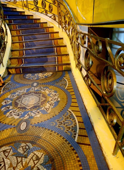 Breathtaking mosaic stairs