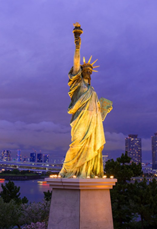 Statue of Liberty at Odaiba.